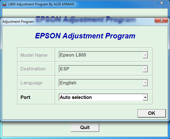 Adjustment program Epson L1800 (ESP)