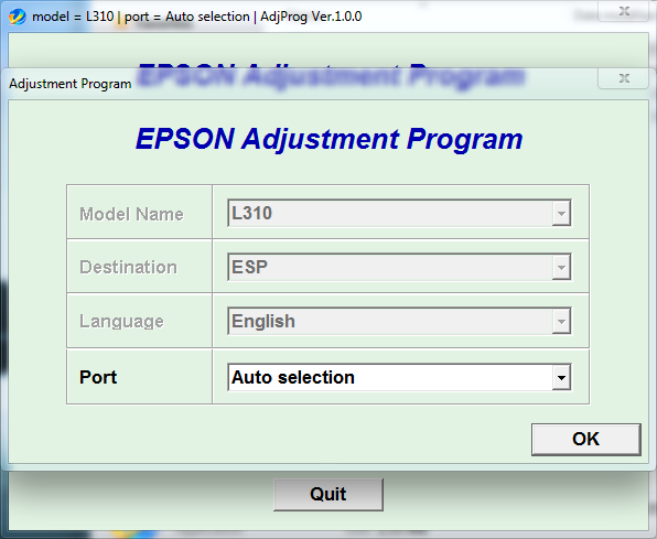 Adjustment program Epson L310 (ESP)
