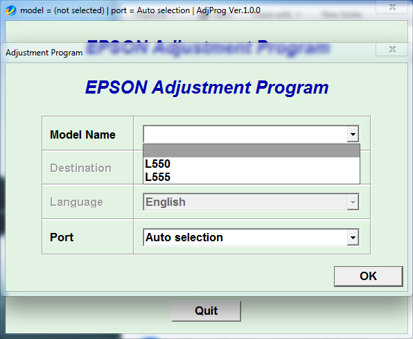 Adjustment program Epson L550 L555 (ESP)