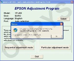 Epson XP-255, XP-257,XP-355, XP-455  Adjustment Program