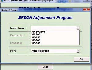 Adjustment Program Epson XP-103 Ver.1.0.9