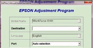 Adjustment Program Epson WorkForce K101