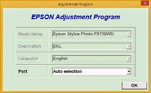Adjustment Program Epson Stylus Photo PX720WD