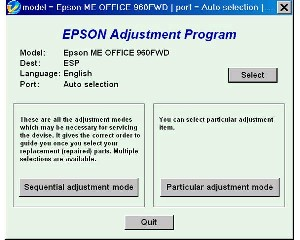 Adjustment Program Epson ME Office 960FWD