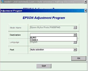Adjustment Program Epson PX830FWD Ver.1.0.6