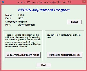 Adjustment Program Epson L455, L456 Ver.1.0.2