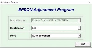 Adjustment Program Epson Stylus SX230 Ver.1.0.1