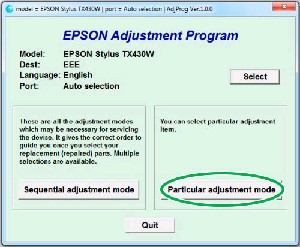 Adjustment Program Epson SX430W Ver.1.0.1