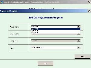 Adjustment Program Epson WF-7110, WF-7610 Ver.1.0.8