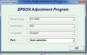 Adjustment Program Epson ET-4500 Ver.1.0.2