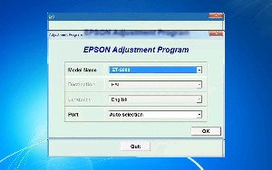 Adjustment Program Epson ET-3600 (EAI) Ver.1.0.0