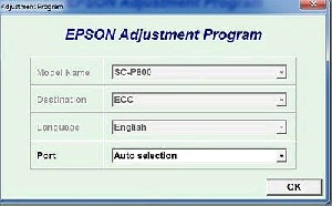 Adjustment Program Epson Sure Color SC-P800, SC-P807